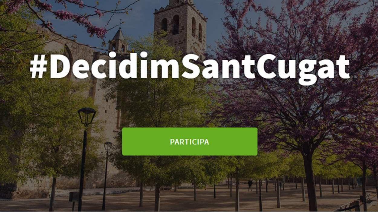 Cartell del procés participatiu / Foto: Ajuntament de Sant Cugat
