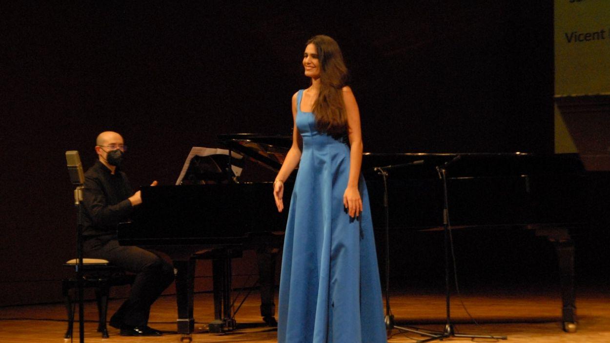 Sara Bañeras a la tercera edició del Concurs Compostela Lírica / Foto: Amigos de la Ópera de Santiago de Compostela