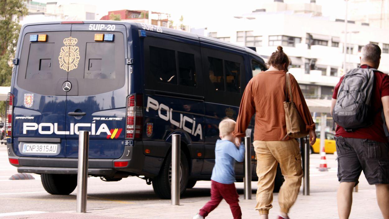 Imatge d'arxiu d'una furgoneta de la Policia Nacional / Foto: ACN