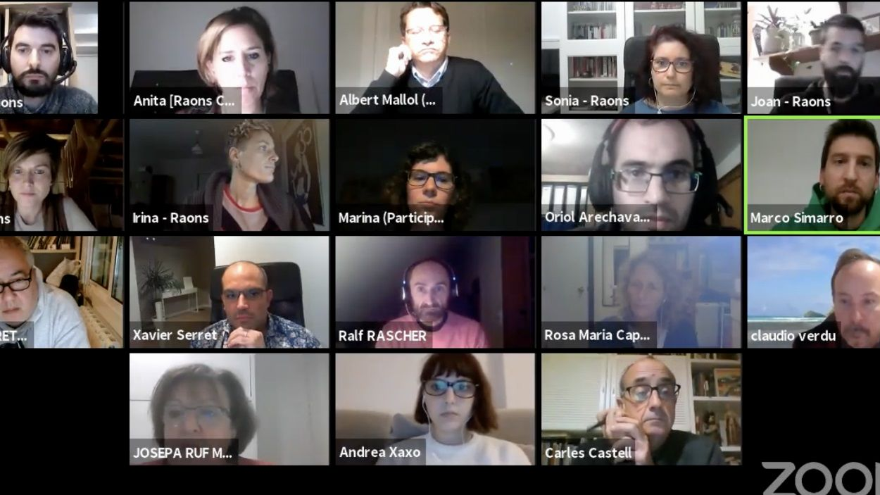La sessió ha hagut de ser telemàtica / Foto: Youtube Ajuntament de Sant Cugat