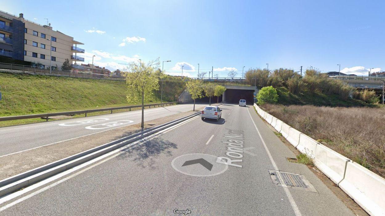 L'accident s'ha produït al túnel de la Ronda Nord / Foto: Google Maps