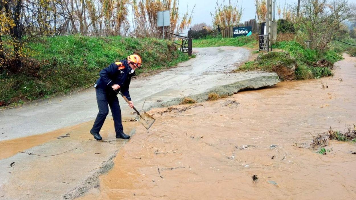 Malgrat l'aigua caiguda, a Sant Cugat hi va haver poques incidències importants per la pluja / Foto: Ajuntament