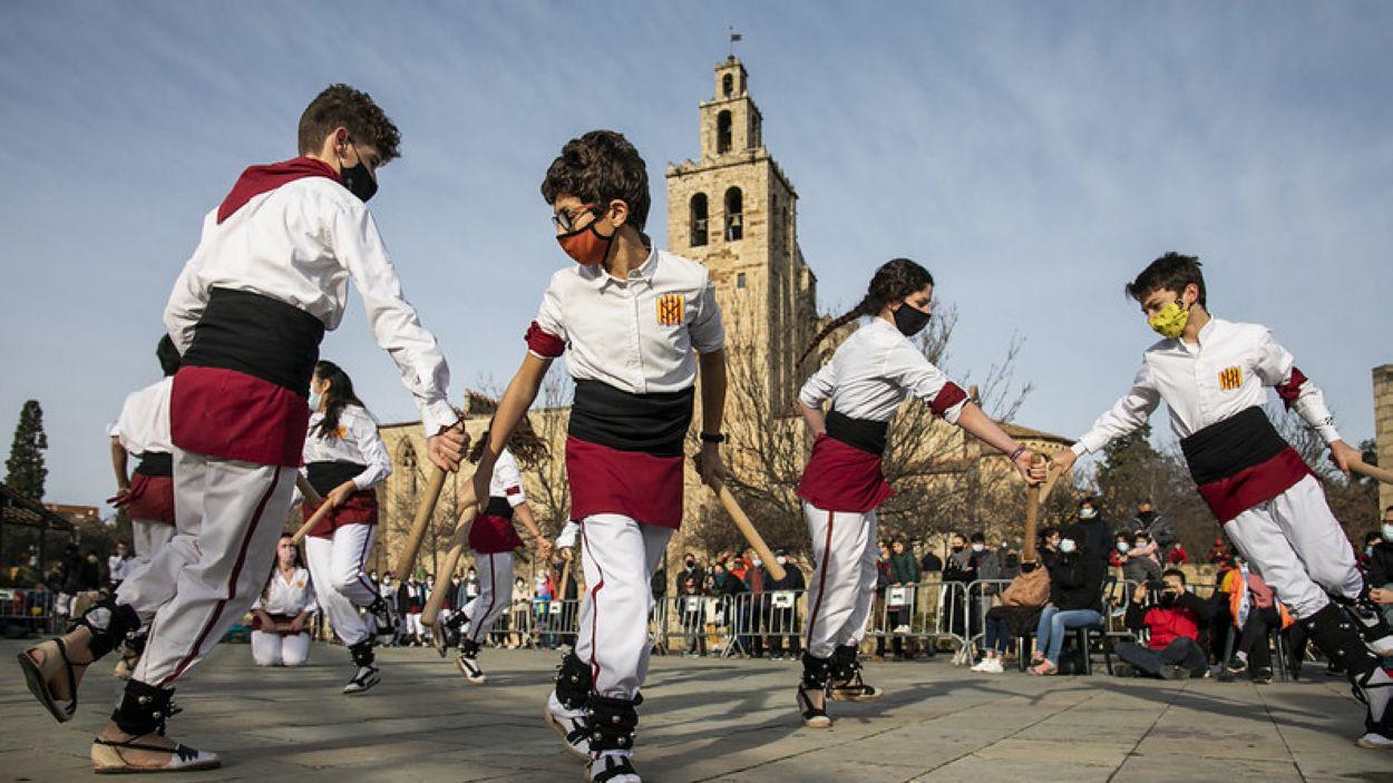 Ballada solidària de les entitats culturals el passat desembre / Foto: Localpres