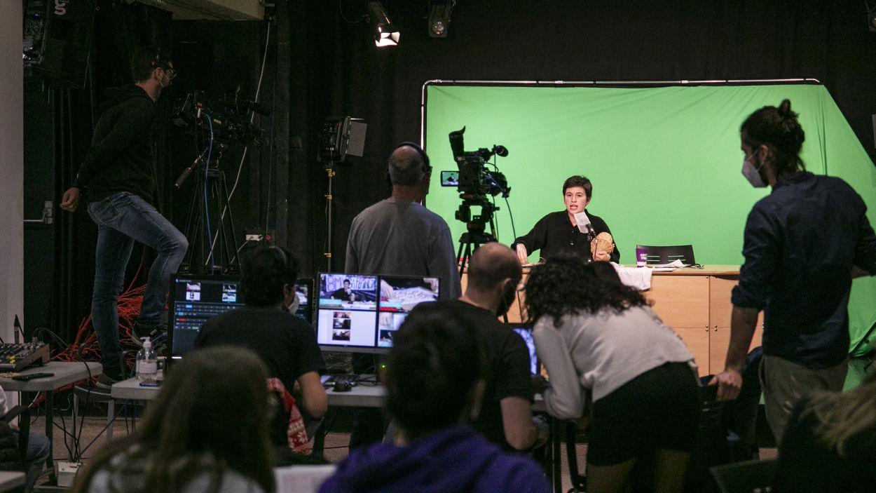 Cugat Mèdia va retransmetre en directe el Quinto des de la Casa de Cultura / Foto: Lali Puig