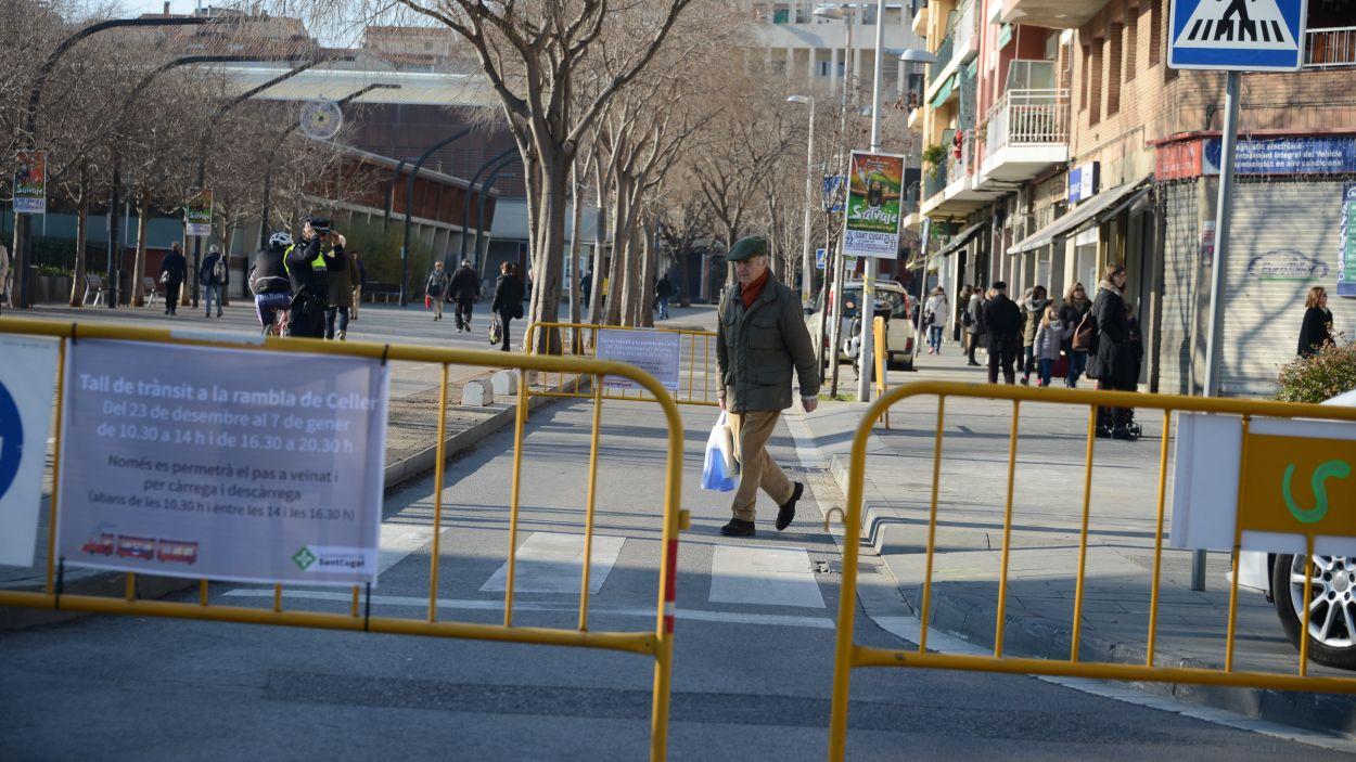 La rambla del Celler estarà tallada del 2 al 5 de gener / Foto: Ajuntament
