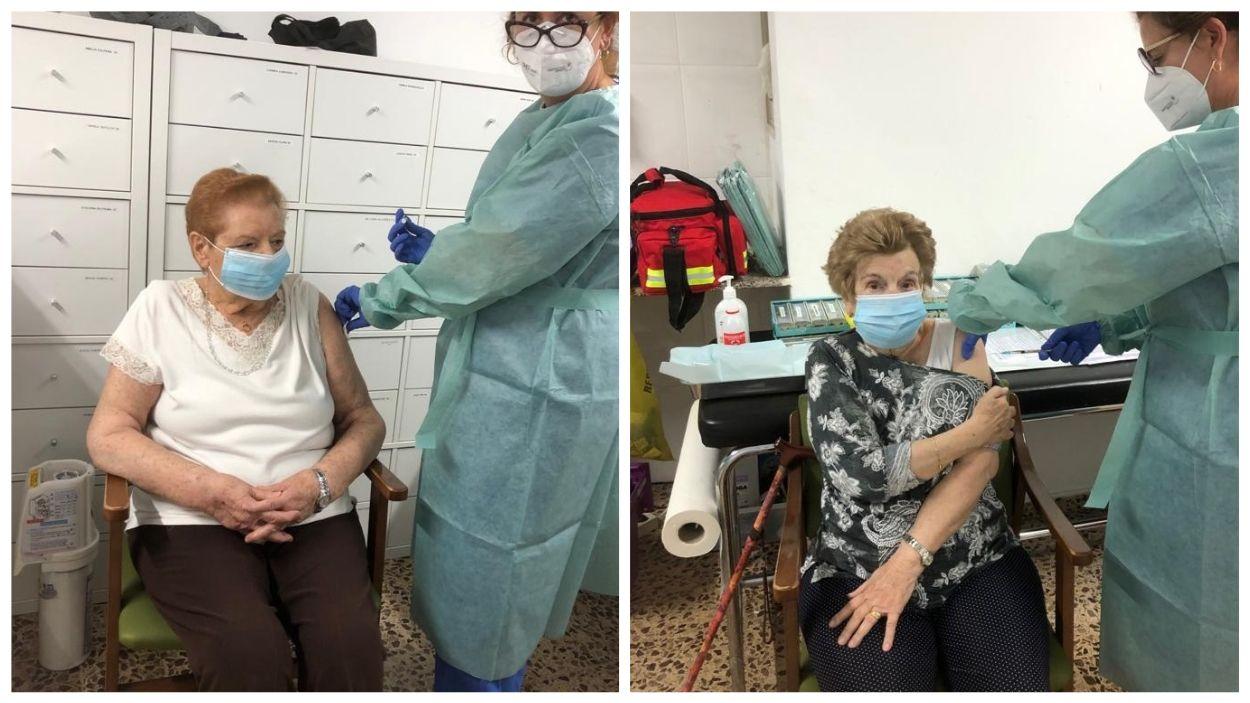 Les primeres persones vacunades de Sant Cugat / Foto: Salut