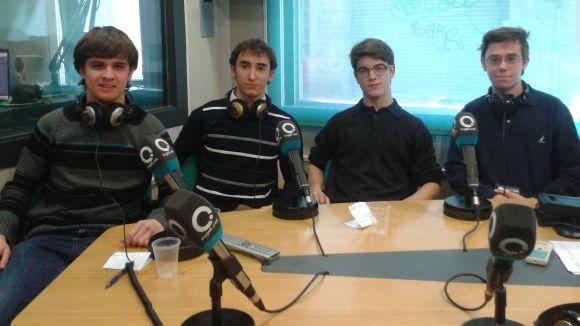 Part dels membres fundadors de la Jove Orquestra Sant Cugat (JOSC), amb el professor Xavier Blanch