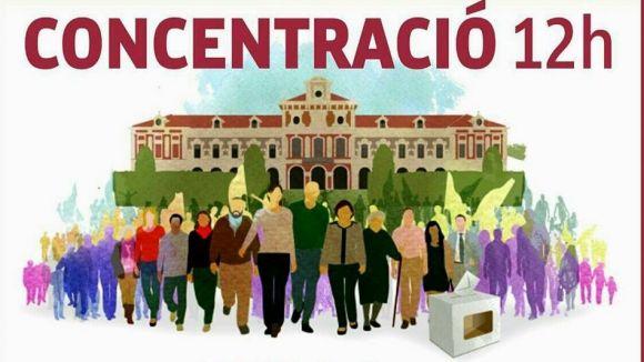 El cartell de la concentració / Foto: ACN Sant Cugat