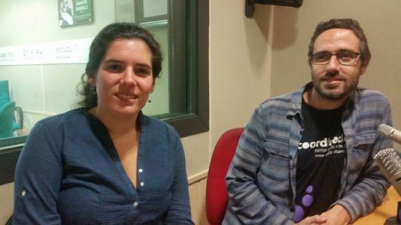 Leticia Martin i Toni Ramon de l'Ateneu a l'estudi 2 de Cugat.cat