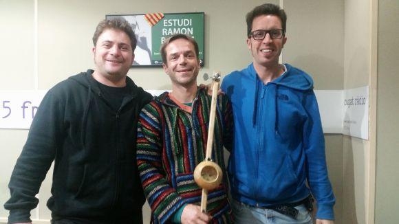 Pau Sans, Tito Alves i Jordi Portales a l'Estudi 1 de Cugat.cat