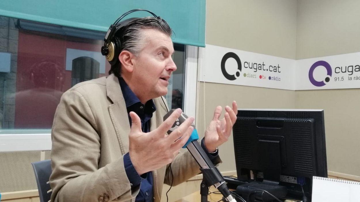Ramon Gener en una entrevista personal per al programa Molta Comèdia / Foto: Cugat Mèdia