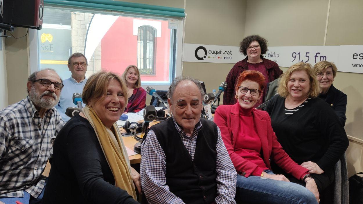 Part de l'equip de Radioteatre a l'Estudi 1 de Ràdio Sant Cugat / Foto: Cugat Mèdia