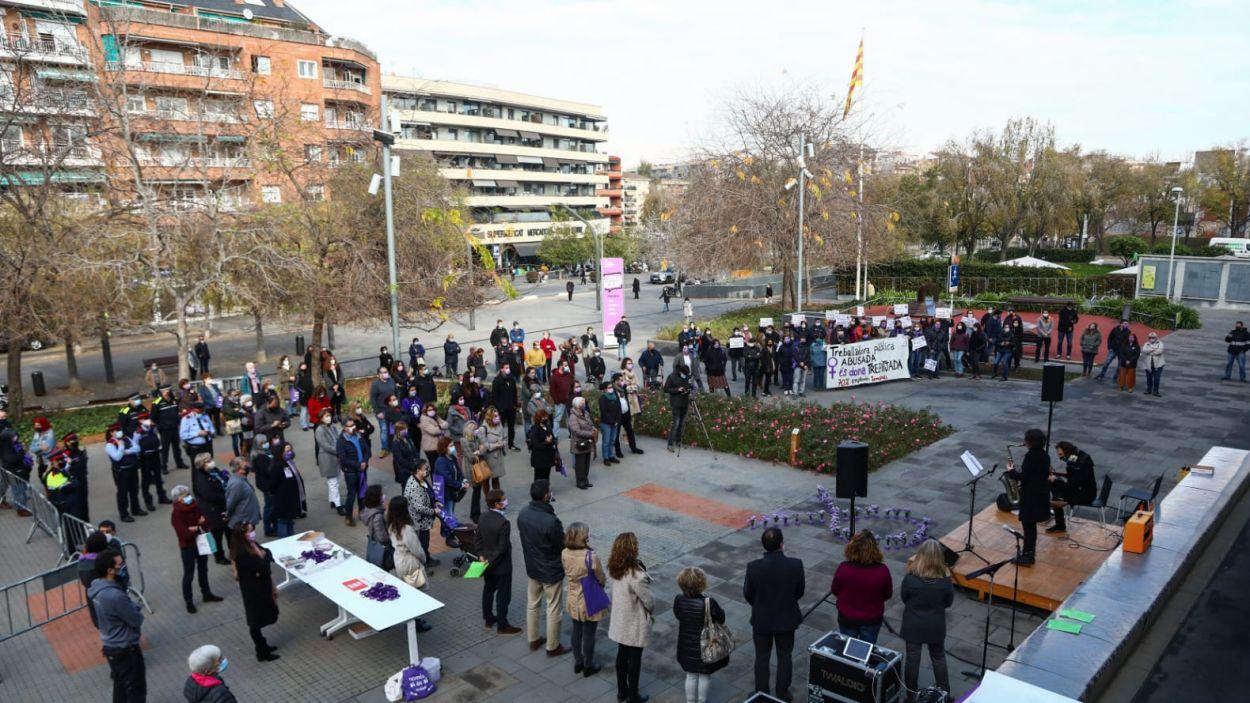 Acte institucional en commemoració del  Dia Internacional Contra la Violència Masclista / Foto: Lali Puig