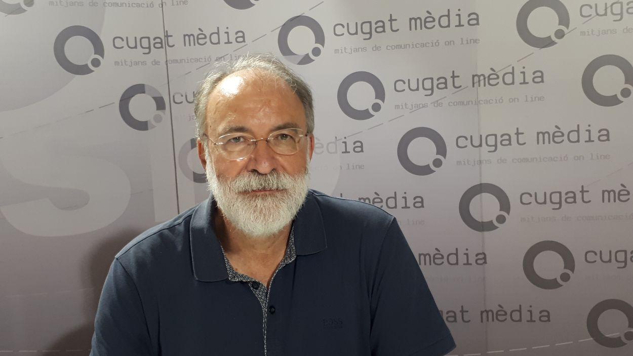 Jaume Angerri, president d'Omnium Sant Cugat / Foto: Cugat Mèdia