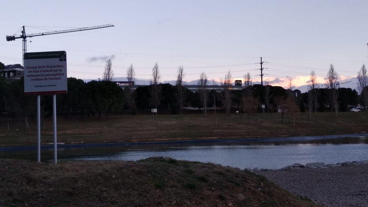 La gatera es contruirà a prop de l'estany de la Guinardera / Foto: Cugat Mèdia