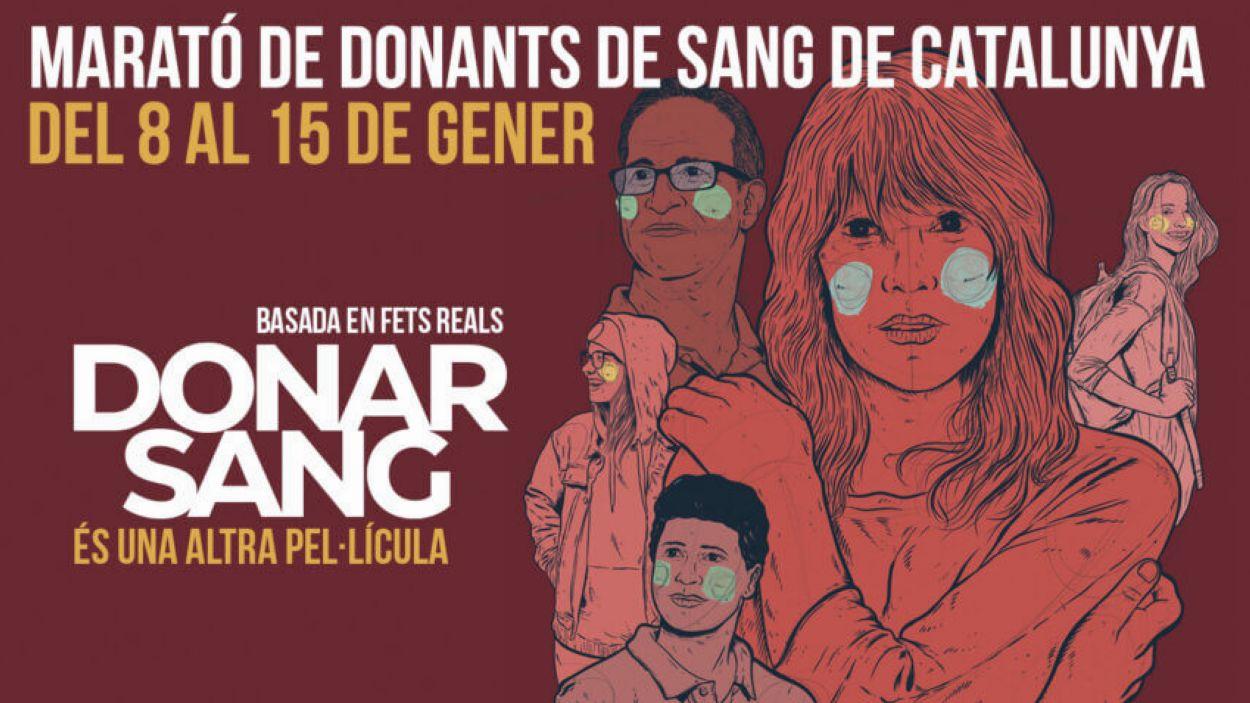 Cartell de la campanya / Foto: Banc de Sang i Teixits