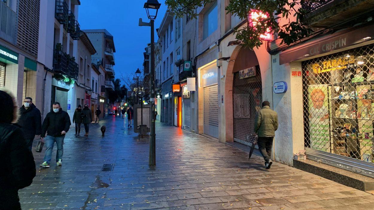 L'eix comercial de Sant Cugat ha posat de manifest l'afectació de la crisi / Foto: Cugat Mèdia