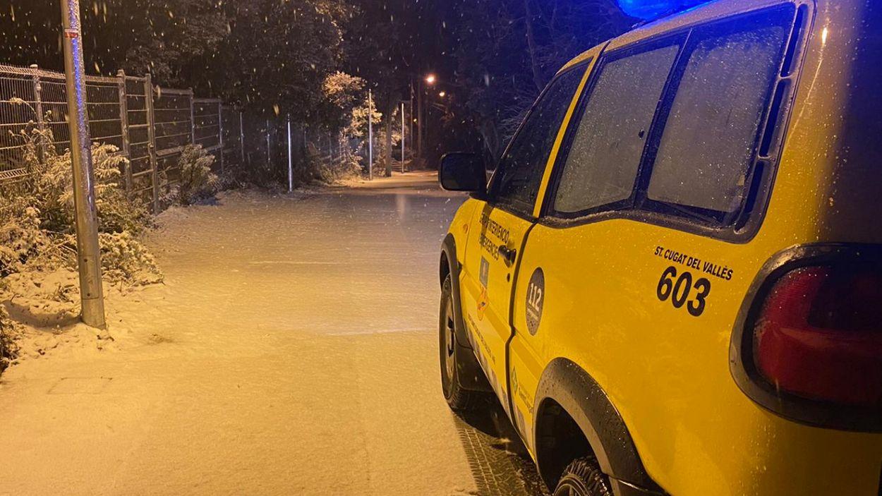 La neu ha enfarinat algunes zones de Sant Cugat / Foto: Cedida (ADF Sant Cugat)