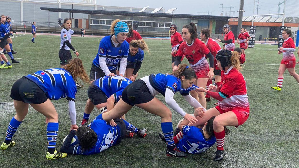 Imatge d'arxiu d'un partit del Club Rugby femení / Foto: Cugat Mèdia