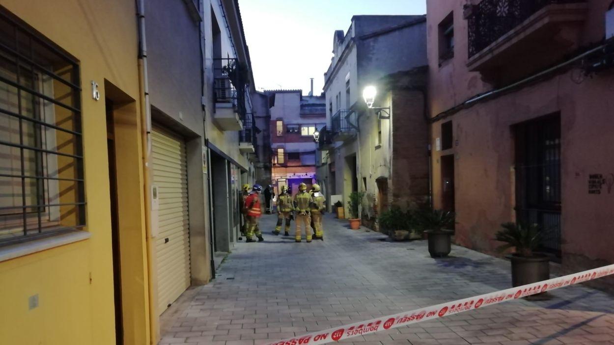 Fuita de gas al carrer Hospital / Font: Cugat Mèdia