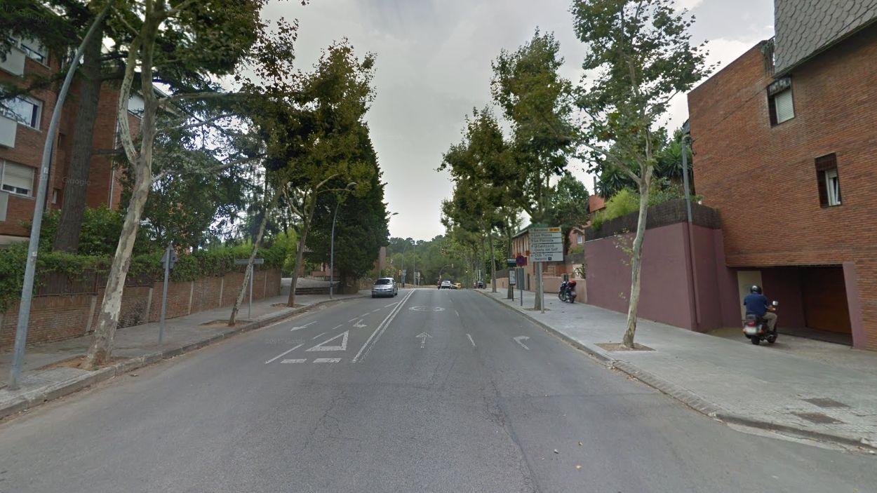 L'avinguda de Gràcia, una de les portes d'accés a Sant Cugat / Foto: Google Maps