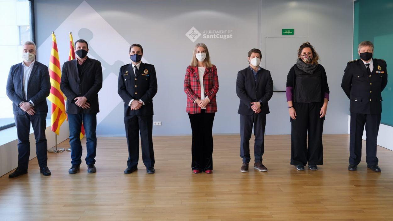 Imatge de la rebuda al nou cap de la Policia de Sant Cugat / Foto: Ajuntament