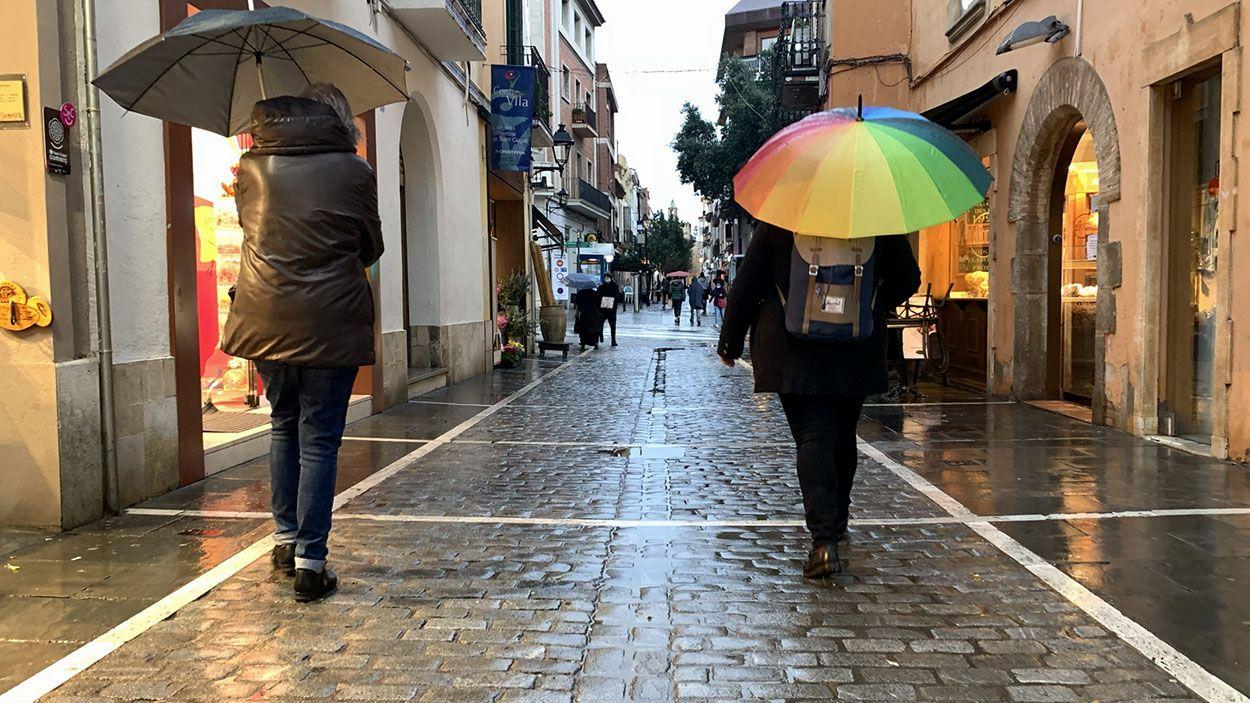 Les pluges s'allargaran previsiblement fins dissabte a Sant Cugat / Foto: Lluís Llebot (Cugat Mèdia)