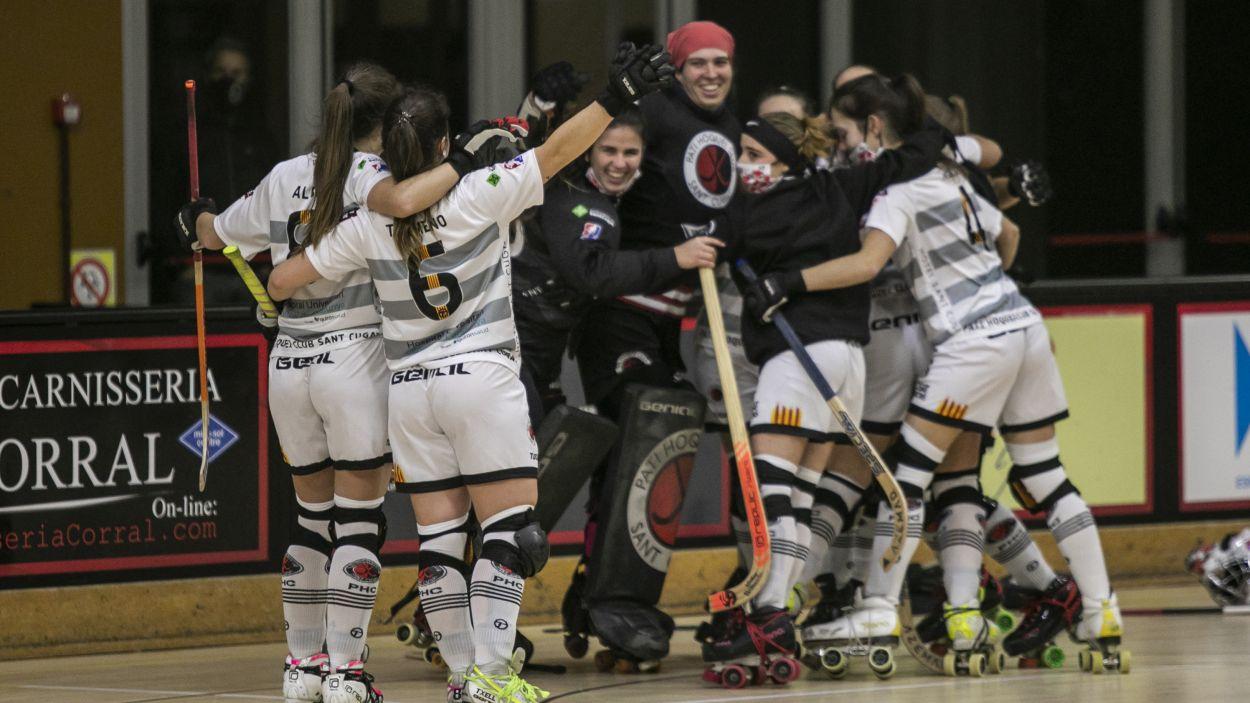 Les santcugatenques guanyen per 3 gols a 1. / Font:  Lali Puig. SantCugatCreix