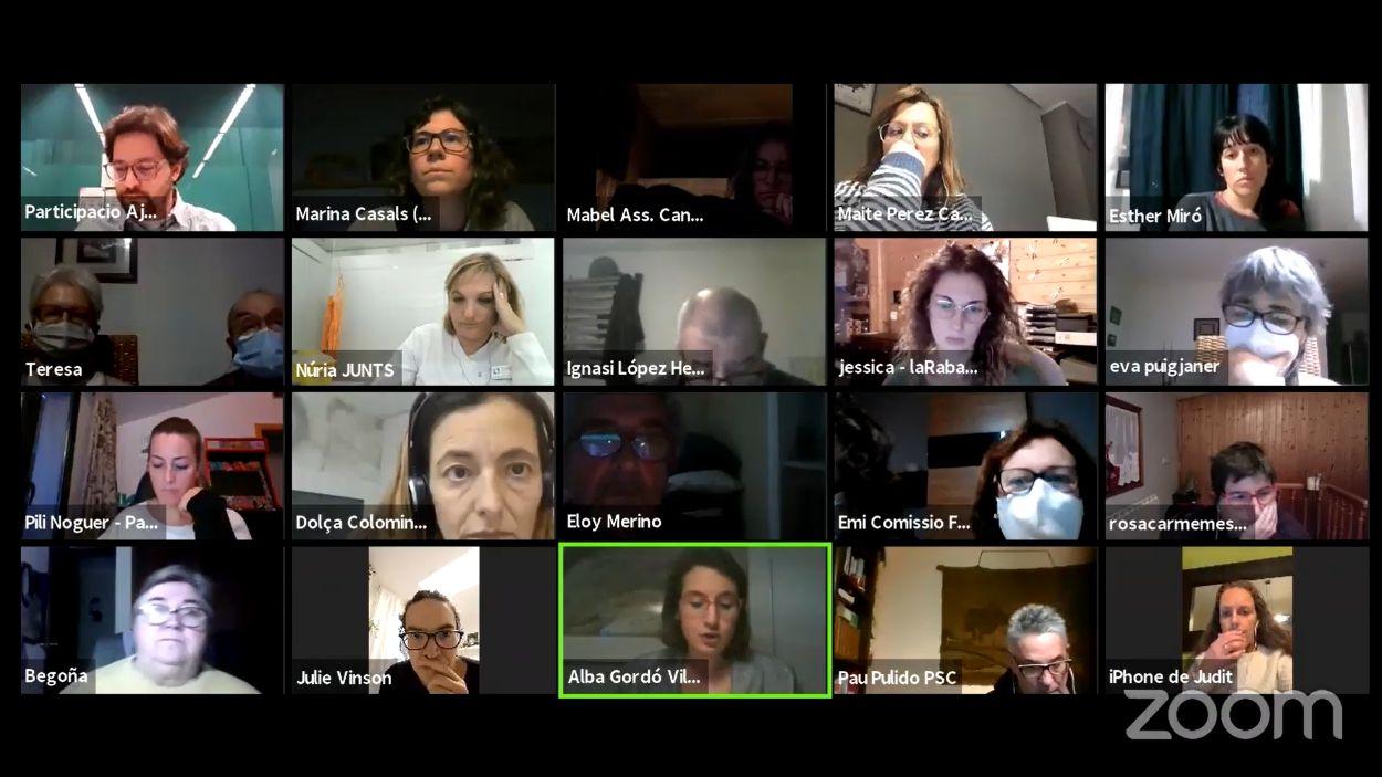 El consell de barri s'ha celebrat telemàticament / Foto: Captura de pantalla