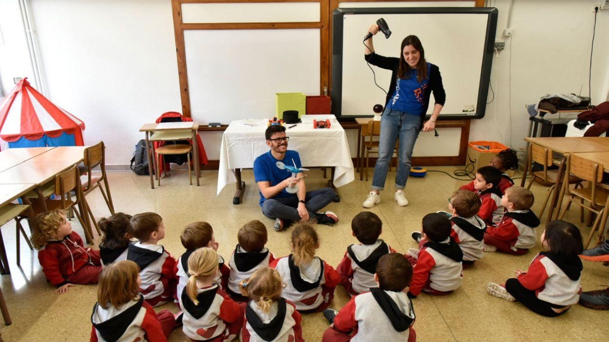 Imatge d'un taller a una escola / Foto: Fundació Naturgy