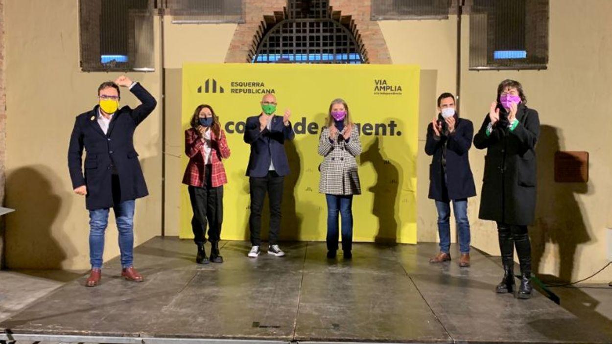 Moment de l'acte d'ERC al Celler Modernista / Foto: Cugat Mèdia