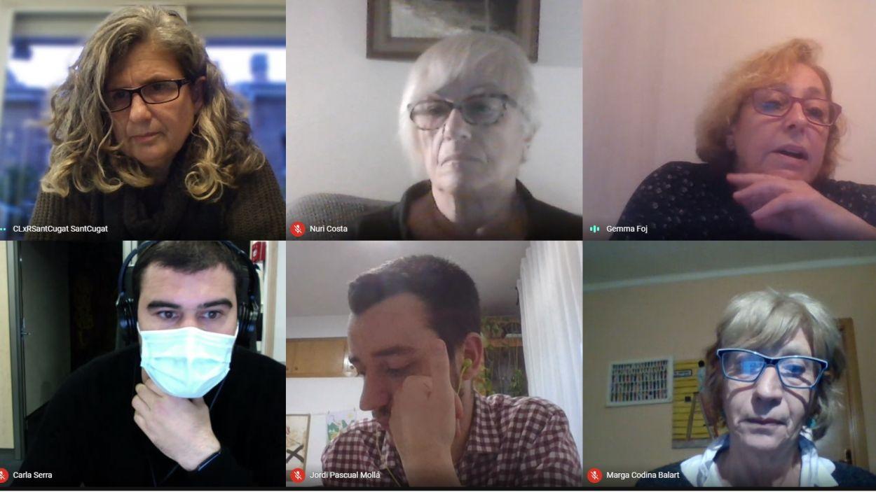 La presidenta del CLxR, Núria Bou, i Carme Foj, d'ADIC, han protagonitzat la roda de premsa telemàtica / Foto: Captura de pantalla