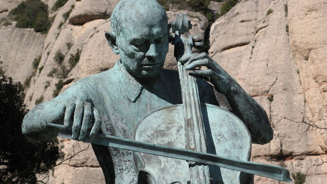 L'estatua de Pau Casals a Montserrat / Foto: CC mdd4696