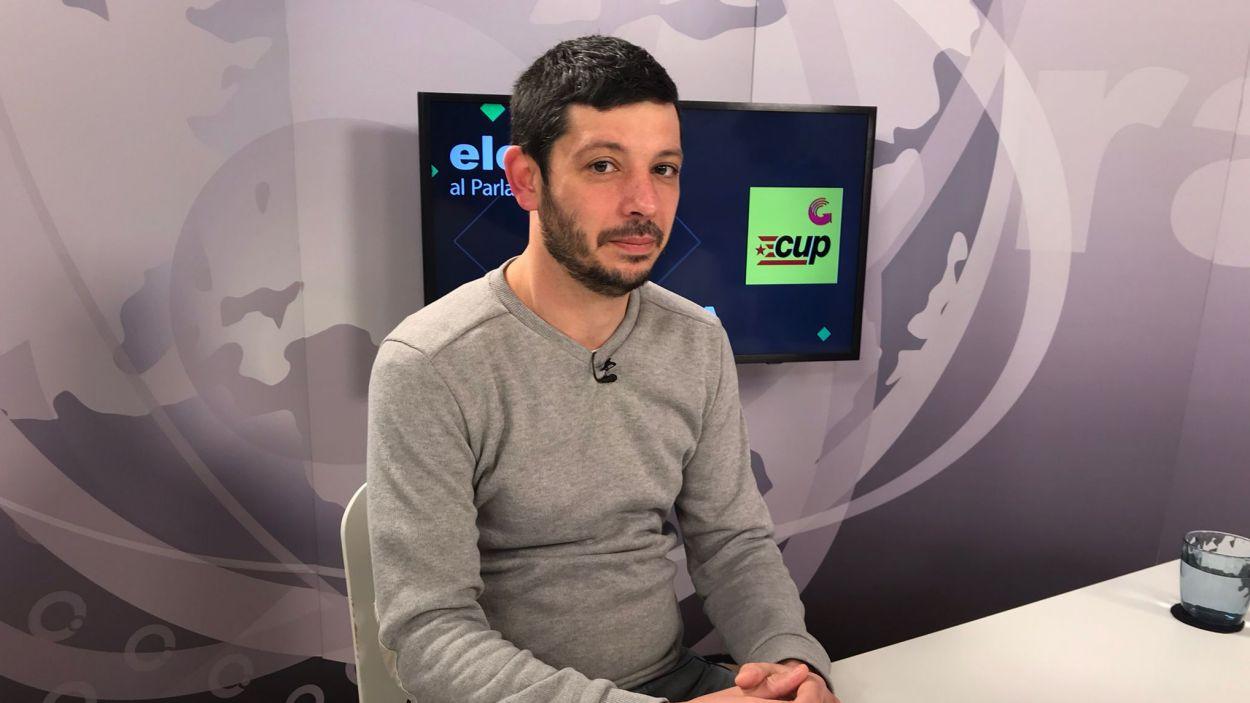Xavier Pellicer, al plató de Cugat Mèdia / Foto: Cugat Mèdia