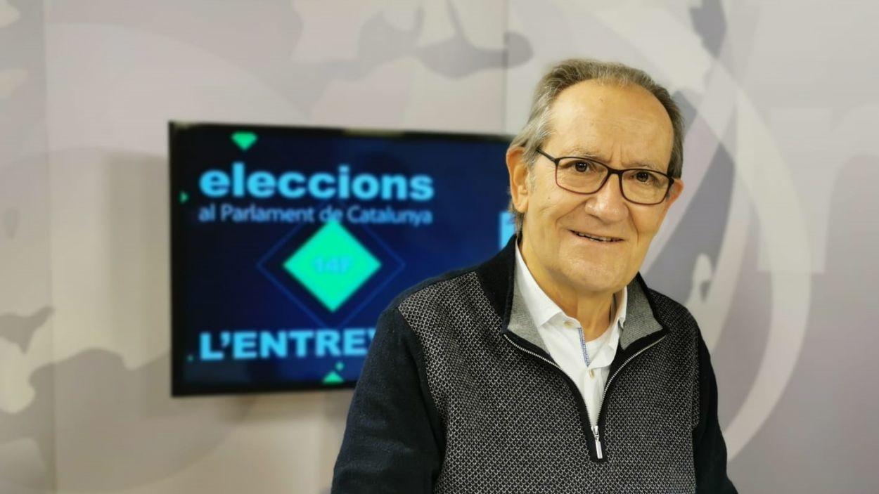 Josep Maria Balcells al plató de Cugat Mèdia aquest dilluns / Foto: Cugat Mèdia