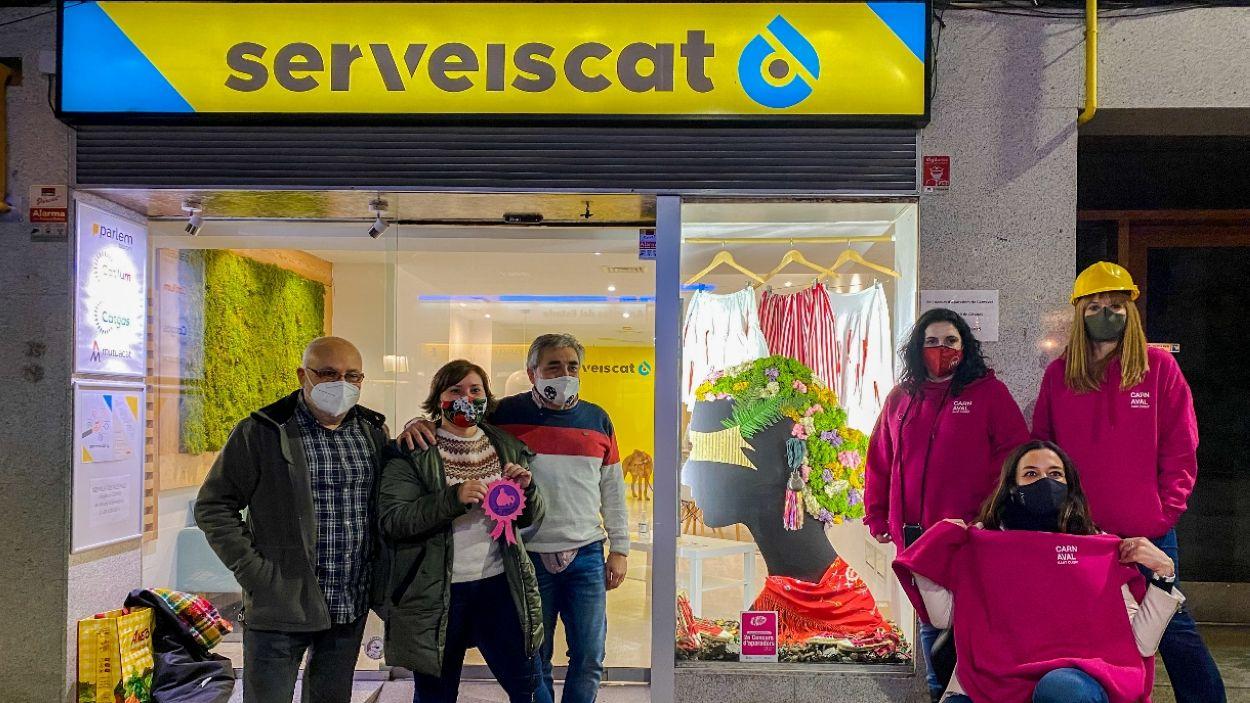 Imatge del comerç guanyador del concurs d'aparadors de Carnaval / Foto: Cugat Mèdia