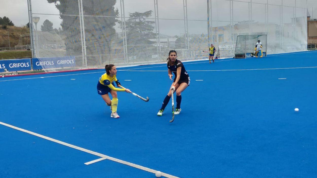 Anna Gil en acció durant un partit. El Junior vol guanyar la lliga / Foto: Cedida