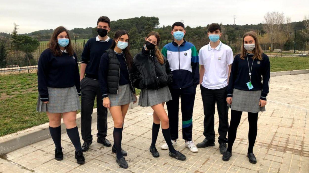 Un grup d'estudiants del Pureza de María / Foto: Cedida
