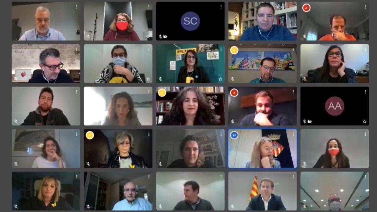 La sessió plenària s'ha celebrat telemàtica / Foto: Cugat Mèdia