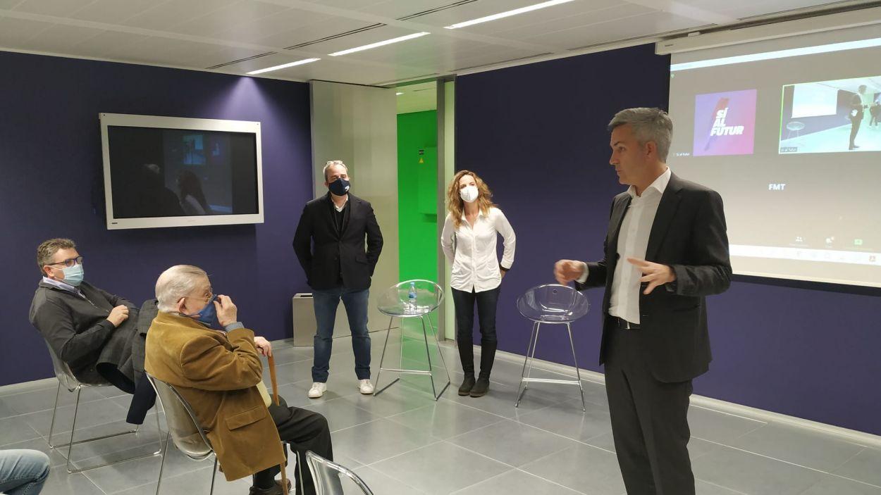 Victor Font, candidat a les eleccions del Barça, ha presentat part del seu projecte a Sant Cugat / Font: 'Si al futur'