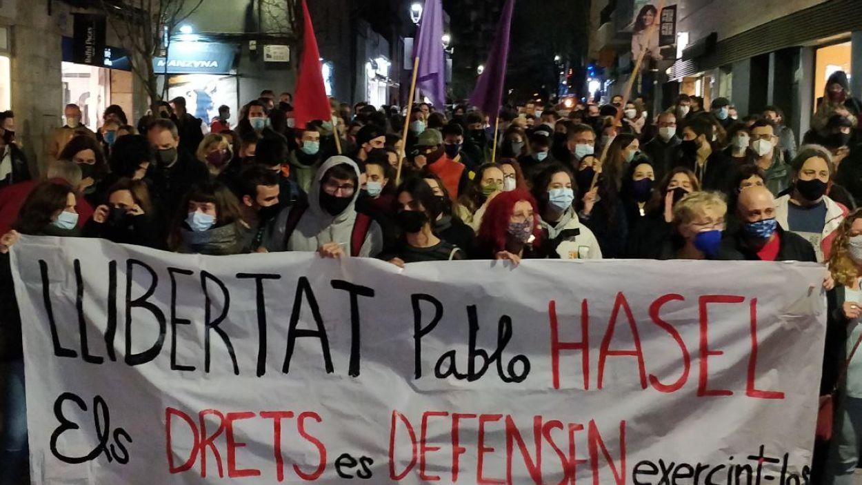 La concentració ha recorregut els carrers de Sant Cugat / Foto: Cugat Mèdia