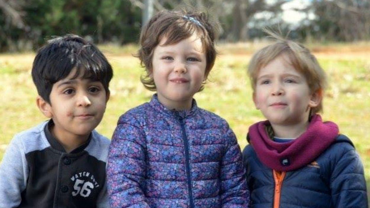 Tres alumnes de l'escola Joan Maragall / Foto: Escola Joan Maragall