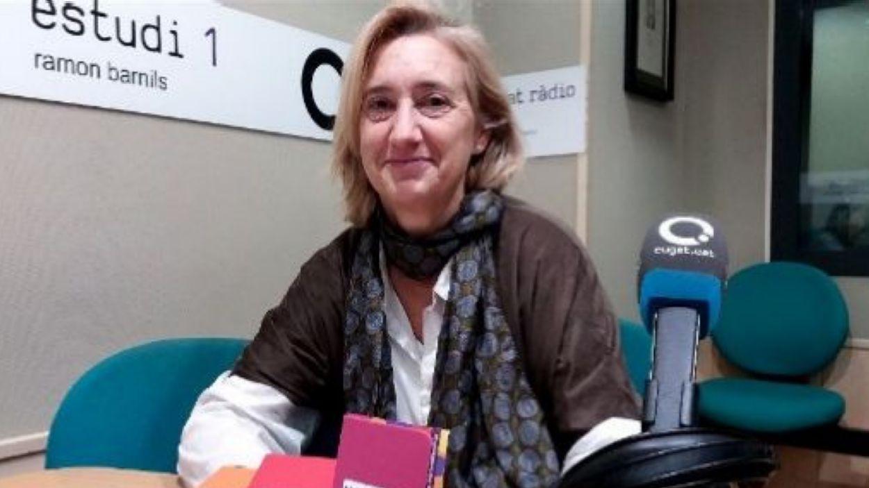 Susanna Pellicer a Ràdio Sant Cugat (2019) / Foto: Cugat Mèdia