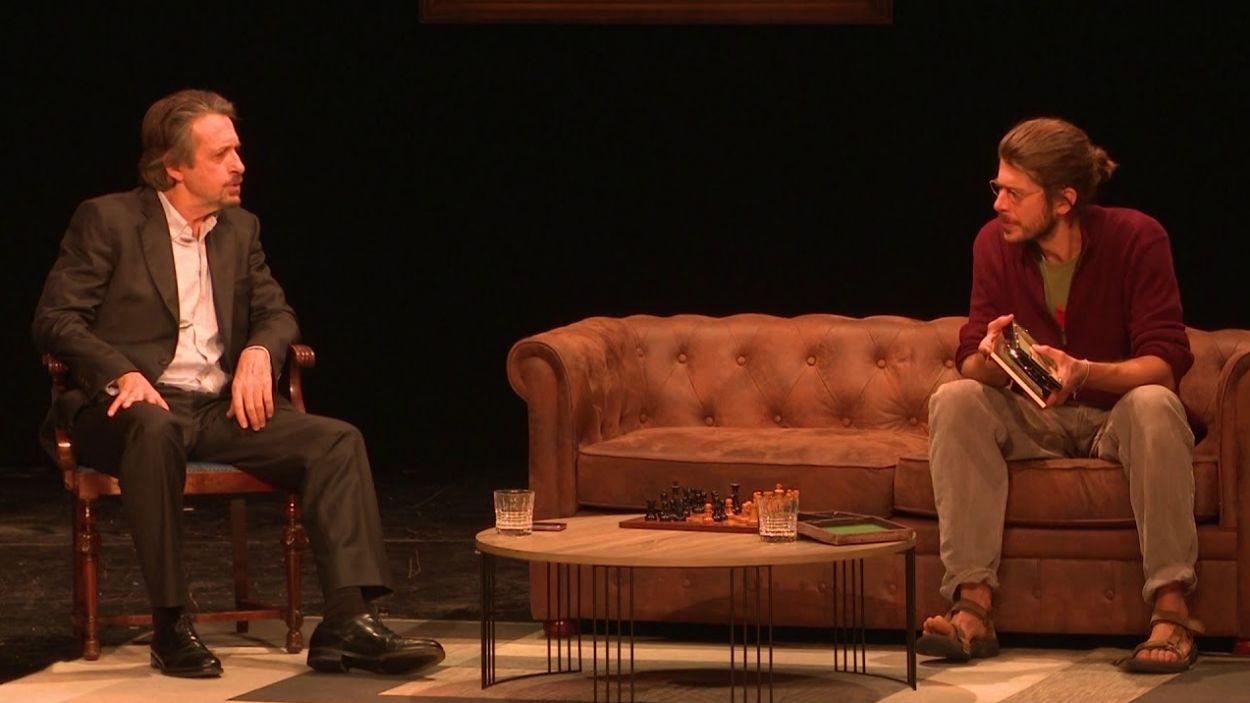 Ramon Madaula i Jaume Madaula protagonitzen 'Els Brugarol' / Foto: Youtube TV Vandellòs