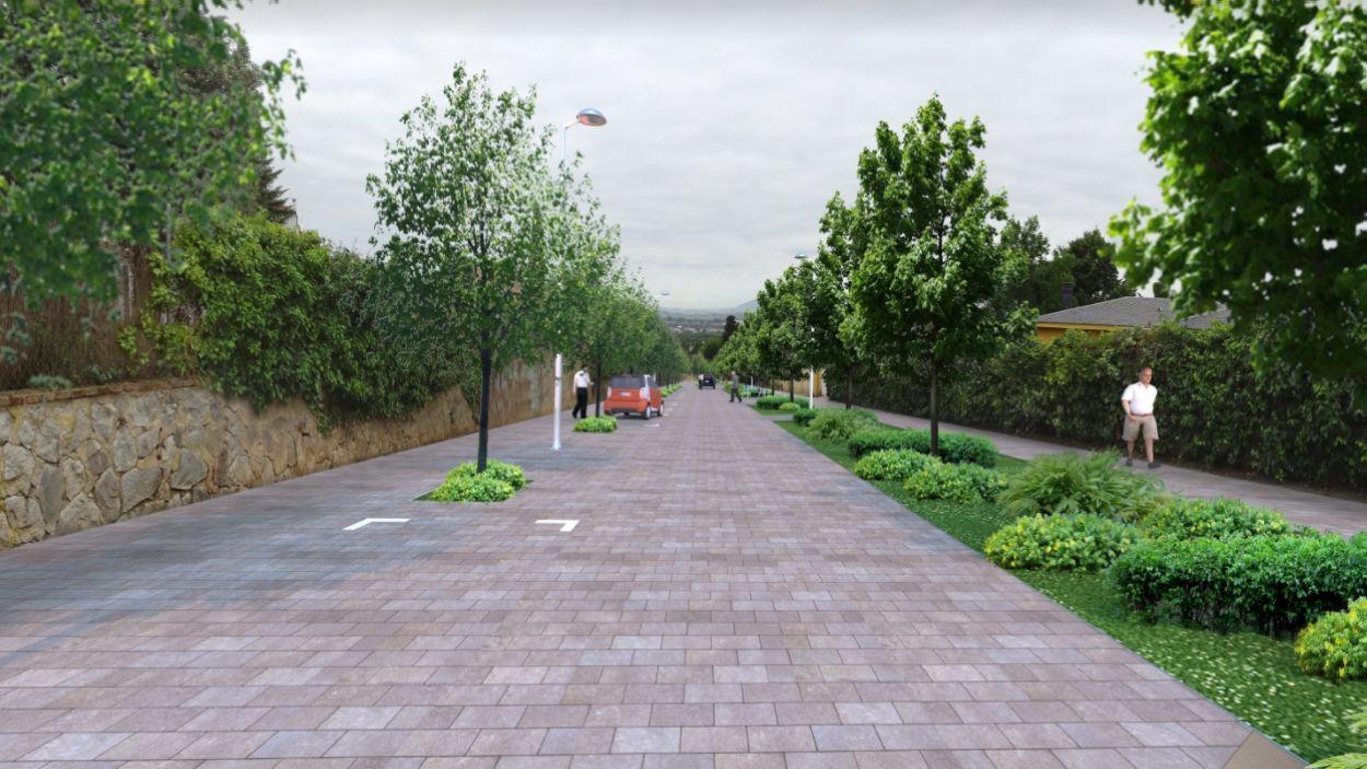 Imatge renderitzada del projecte de la urbanització / Foto: EMD Valldoreix