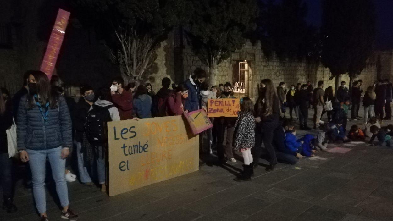 Manifestació a la plaça d'Octavià / Font: Cugat Mèdia