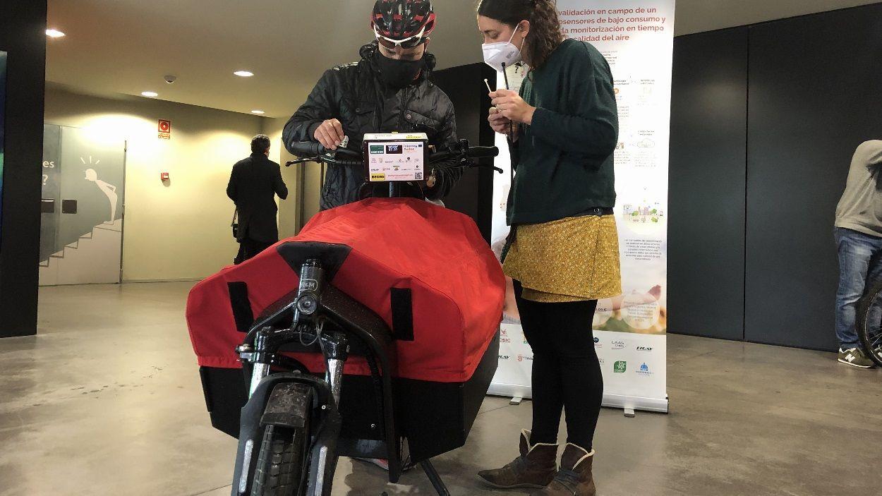 Una de les bicicletes que portarà un nanosensor per Sant Cugat / Foto: Cugat Mèdia