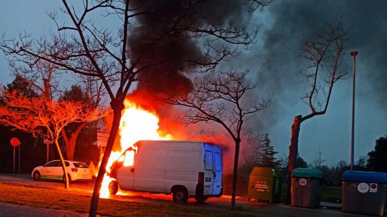 Imatge del vehicle cremant / Foto: Cedida