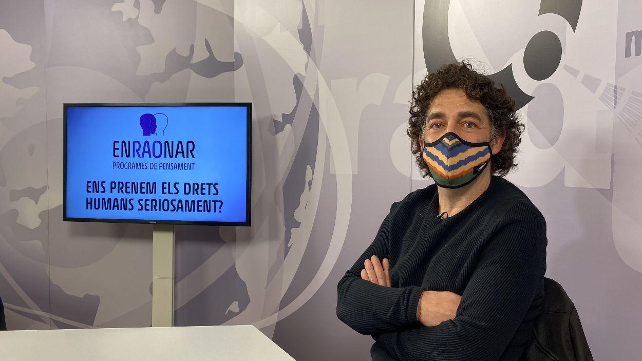 David Bondia al plató de Cugat Mèdia / Foto: Cugat Mèdia