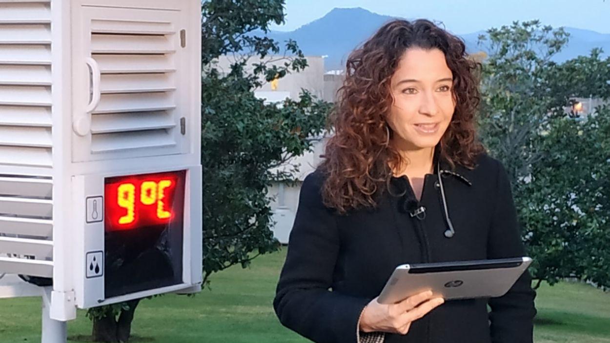Gemma Puig durant el programa 'Els Matins' de TV3 / Foto: Cedida